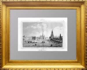 Москва. Красная площадь. 1838г. Кадоль. N88