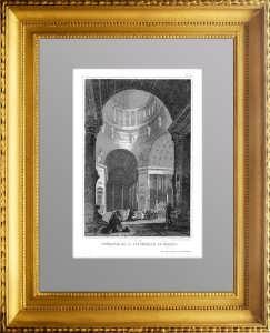 Интерьер Московского Cобора (?) 1859г. Lhuillier Атрибуция не окончена
