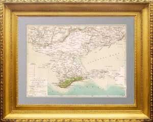 Карта Таврической губернии (Крым). 1895г. СПб. Шокальский