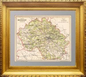 Карта Московской губернии. 1895г. Картограф. заведение Я.М. Ланинера