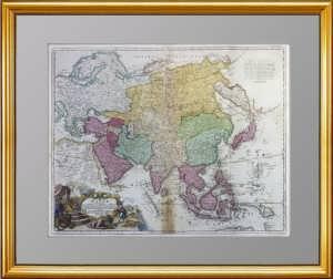 Россия (Russorum) в Европе и Азии. Oк. 1730г. Хоманн. Музейный экземпляр. Подарок чиновнику