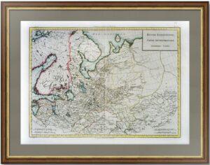 Северная часть европейской России. Петербург. 1790г. Тардьё. Старинная карта в подарок