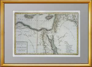 Антикварная карта античного Израиля. 1797г. Иудея, Египет, Палестина, Сирия, Кипр.