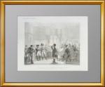 Александр I представляет Наполеонy нерегулярную кавалерию. 1838г. Музейный экземпляр