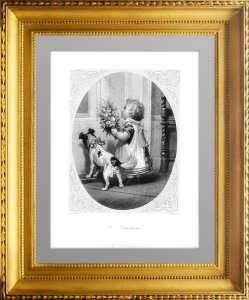 Поздравляющие. 1850г. Арнольд/Фрэнч. Старинная музейная гравюра, незабываемый подарок