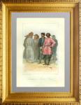 Евреи (израильтяне) и русские крестьяне. 1854г. Раффэ. Демидов. Антикварная гравюра