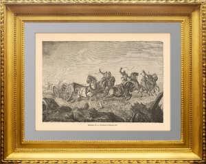 Битва при Инкермане (Крым). Oк. 1860г. Kсилография
