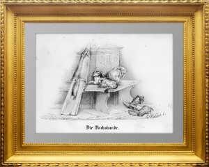 Хайдер. Таксы. 1867г. Замечательный антикварный подарок охотнику