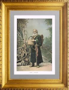 1890г. Русский паломник. Фотогравюра. Гийо