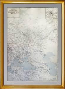 Железные дороги, водные и шоссейные пути сообщ. Европ. части СССР. 1931г. Старинная карта