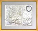 Юг Европейской России. Крым. Новая Сербия. 1752г. Музейная старинная карта ВИП подарок