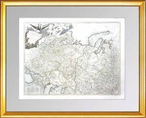 Генеральная карта России в Европе и Азии (лист1), ок.1770г. Вогонди. Музейный экземпляр