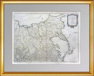 Генеральная карта России в Европе и Азии (лист2), ок.1770г. Вогонди. Музейный экземпляр