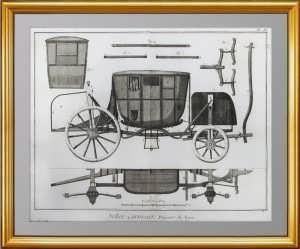 Каретное искусство.1776г. Лист IX. Лионский дилижанс. Элитный ВИП подарок в кабинет