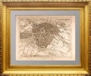 Антикварный план Берлина. 1844 года. Хек, Шлегель и Эберхард