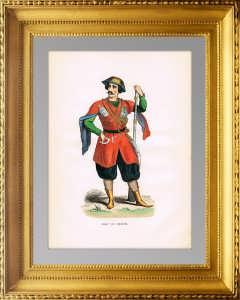 Костюмы народов Рос. империи. 1845г. Имеретинский принц. Антикварный подарок грузину