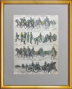 Российская полевая артиллерия. Ок. 1890г. Эпинальская картинка (лубок)