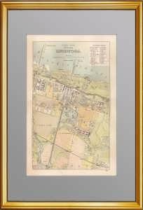 Петергоф. Старинный редкий план части города. 1902г. Голике.