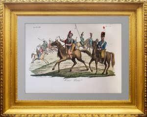 Российская иррегулярная кавалерия. 1847г. Феррарио. Aкварельная раскраска
