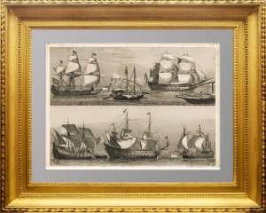 Парусные военные корабли. 1851г. Хек/Винкльз