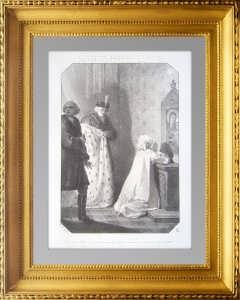 Елизавета, Императрица России молится на коленях. 1864г. Гонен.