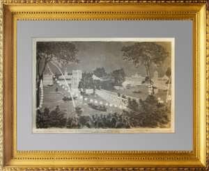Празднество императора России в парке Петергофа. 1876г.