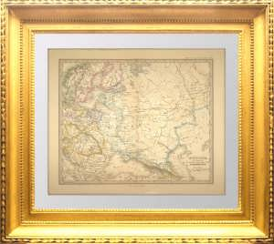 Запад Российской империи в 1795 году. Шпрунер. 1889г. Итальянский язык