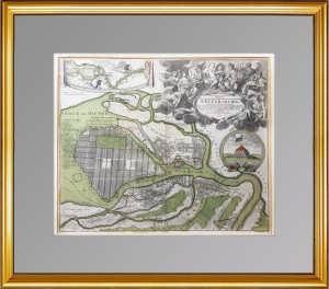 Антикварный план Петербурга. 1718 г. Хоманн. Музейный роскошный ВИП подарок