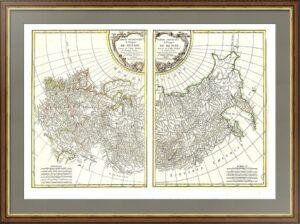"""Карта """"Российская  империя"""".  1771г. Музейный экземпляр. Достойный ВИП подарок чиновнику"""