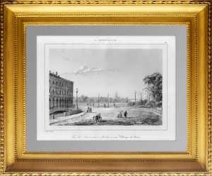 Театральный (Трёхарочный) мост и Марсово поле в Петербурге. 1838г. Садовников.