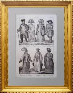 Костюмы народов Рос. империи. Калуга и Валдай. 1830г.