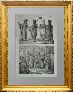 Быт народов Рос. империи. Русские. Продавец шапок и трубочист. Крещение. 1830г.