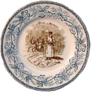 Декоративная тарелка. 1883г. Кучер (извозчик). Путешествие в Россию. Антикварный подарок