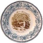 Декоративная тарелка. 1883г.  Русская охота на медведя. Подарок охотнику