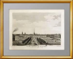 Петербург. Вид Адмиралтейства. 1783г. (2) Антикварная гравюра, музейный ВИП подарок