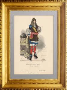 Костюм германского дворянина в 1670-1680 годах. Браузеветер. 1874г.