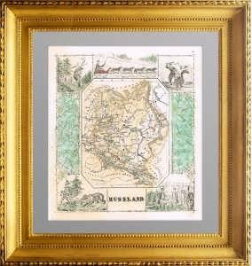Карта европейской России с Финляндией и Польшей. 1886г.