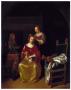 Дама за туалетом. 1850г. Нетшер / Пейн. Оригинал в Музее Искусств Базеля