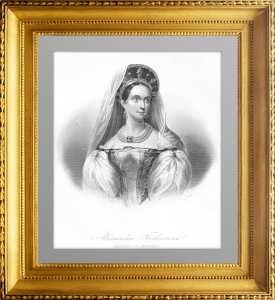 Александрa Федоровна, императрица России. 1848г. Гравированный портрет
