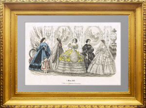 Женская мода для рукодельниц. 1860г. Март. Штутгарт. Антикварный подарок даме