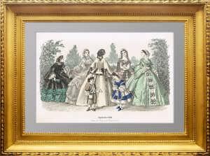 Женская мода для рукодельниц. 1860г. Сентябрь. Штутгарт. Антикварный подарок женщине