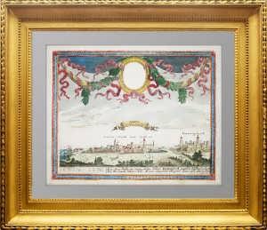Нарва и Ивангород. 1710г. Боденер. Подлинная старинная гравюра