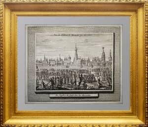 Редкая гравюра. Москва. Вид Кремля. 1647/1727г. Олеарий. Подарок сотруднику МВД