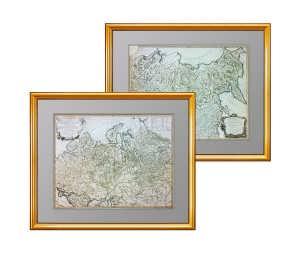 Генеральная карта Российской империи. Вогонди. 1750г. Музейный экземпляр, VIP подарок