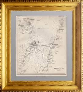 Кронштадт и окрестности Петербурга. 1860г. Антикварная карта