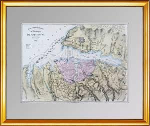 Старинный оригинальный план Севастополя. 1855г. Антикварный подарок патриоту России