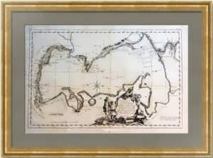 Антикварная карта Каспийского моря. 1754г. Редкость! ВИП подарок руководителю в кабинет