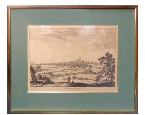 Калининград (Кёнигсберг). 1715г. Старинная гравюра.  Атрибуция не завершена