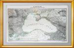 Большая старинная карта Чёрного моря. 1847г. Лист 44х70! ВИП подарок чиновнику