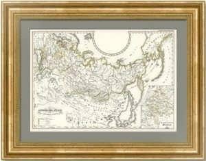 Карта истории Российской империи c 1460 года: Аляска, Крым, Финляндия. 1854г. Менке